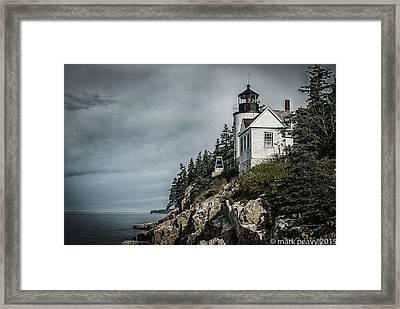 Bass Lighthouse Maine Framed Print