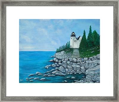 Bass Lighthouse Framed Print by Rita Tortorelli