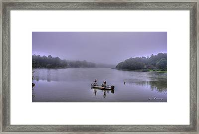 Bass Masters Lake Oconee Fishing Art Framed Print by Reid Callaway