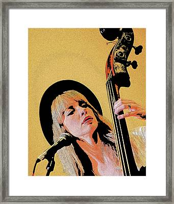 Bass Player Framed Print