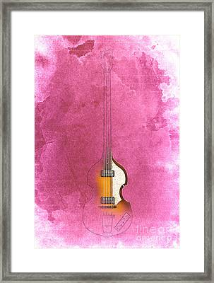 Bass - Red Rojo Framed Print by Pablo Franchi