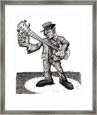 Bass Framed Print by Tobey Anderson