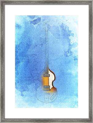 Bass Vintage Blue Framed Print by Pablo Franchi