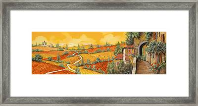 Bassa Toscana Framed Print by Guido Borelli