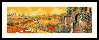 Vineyard Landscape Framed Prints