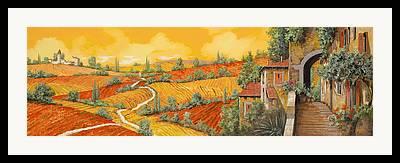 Vineyard Landscape Paintings Framed Prints