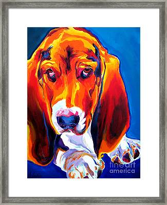 Basset - Ears Framed Print