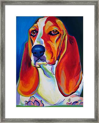 Basset Hound - Maple Framed Print
