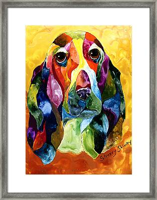Basset Hound Blues Framed Print