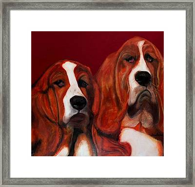Basset Hound - Mia And Marcellus Framed Print