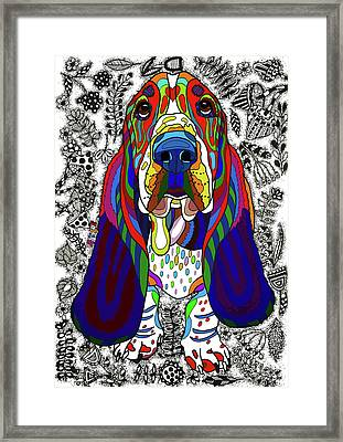 Basset Hound Framed Print by ZileArt
