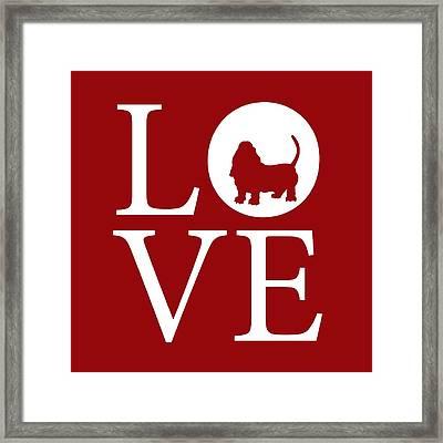 Bassett Love Red Framed Print