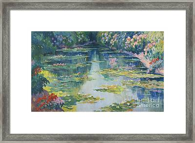 Bassin Aux Nympheas Framed Print by MotionAge Designs