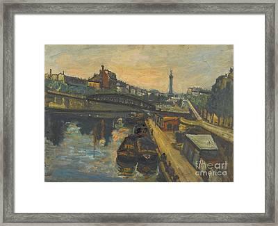 Bassin De L'arsenal Framed Print by Celestial Images