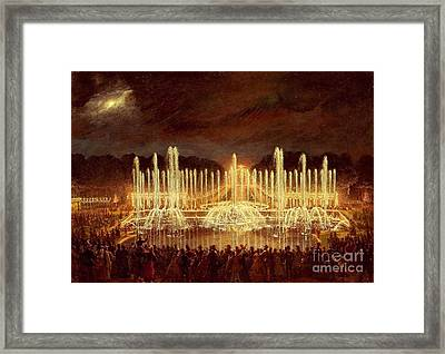Bassin De Neptune  Framed Print by MotionAge Designs