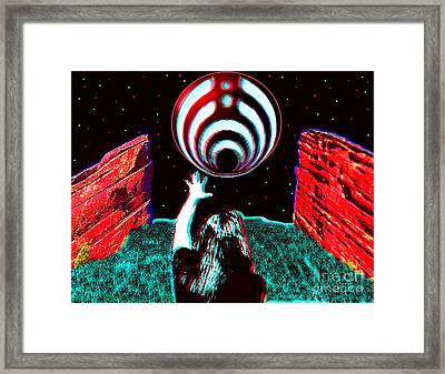 Bassnectar Red Rocks 15 Tribute Framed Print by Andrew Kaupe