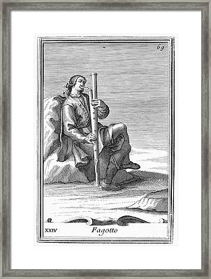 Bassoon, 1723 Framed Print
