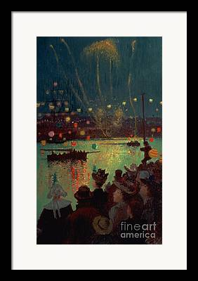 Chinese Fireworks Framed Prints