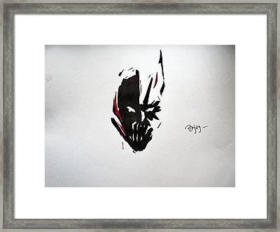 Bat-bane Framed Print by Ajay Atroliya