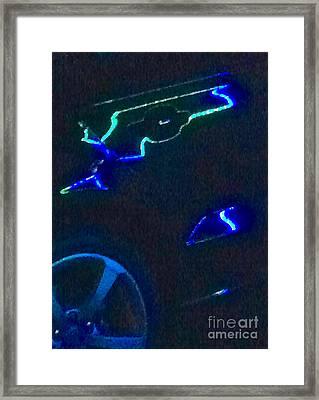 Bat Car 2 Abstract Framed Print