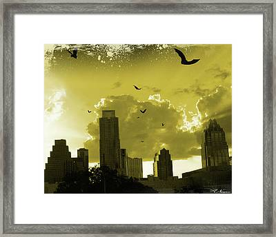 Bat City Framed Print
