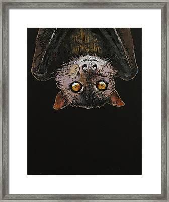 Bat Framed Print by Michael Creese