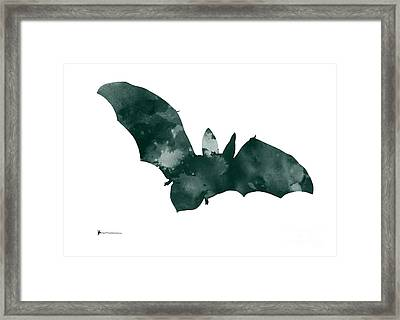 Bat Minimalist Watercolor Painting For Sale Framed Print