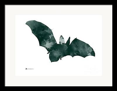 Bat Mixed Media Framed Prints