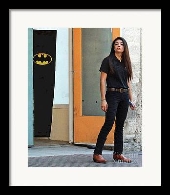 Woman With Black Hair Photographs Framed Prints