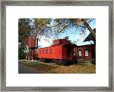 Batavia Depot Caboose Framed Print by Ely Arsha