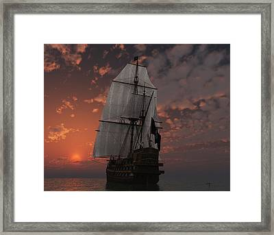 Bateau De Pirate Framed Print by Steven Palmer