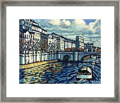 Bateau Mouche Framed Print by Brian Simons