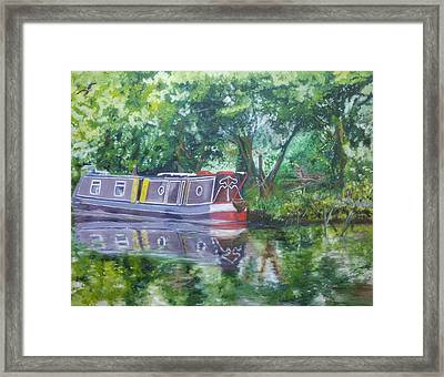 Bateau Sur Riviere Framed Print by Isabella F Abbie Shores FRSA