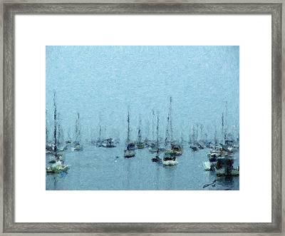 Bateaux Au Repos Framed Print by Eddie Durrett