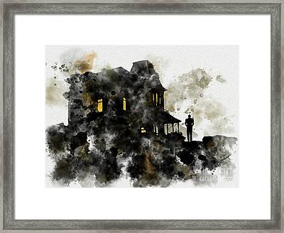 Bates House Framed Print by Rebecca Jenkins