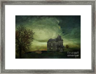 Framed Print featuring the mixed media Bates Residence by Jim  Hatch