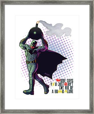Batfleck And The Bomb 2 Framed Print