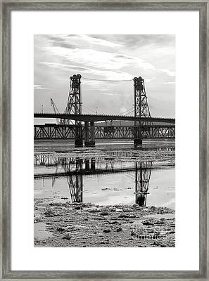 Bath Bridges In Winter Framed Print