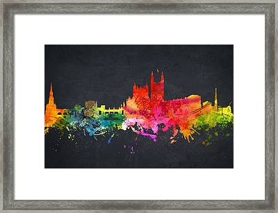 Bath Cityscape 07 Framed Print by Aged Pixel