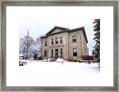 Bath Custom House In Winter Framed Print