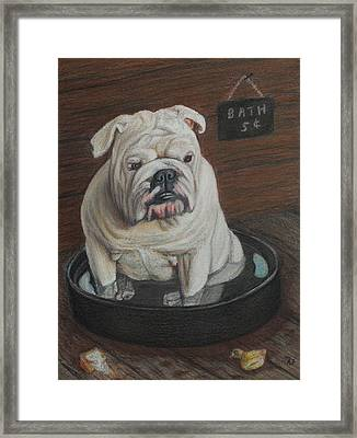 Bath Five Cents Framed Print by Angela Finney