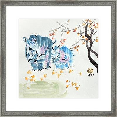 Bath Time Framed Print by Ming Yeung