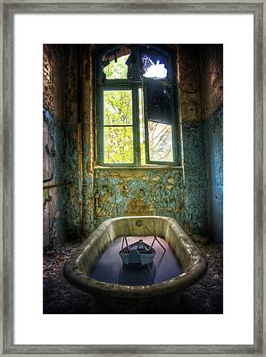 Framed Print featuring the digital art Bath Toy by Nathan Wright