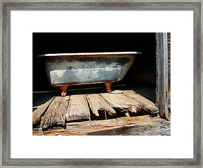 Bath Weight Limit Framed Print