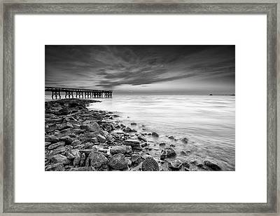 Framed Print featuring the photograph Bathe In The Winter Sun by Edward Kreis