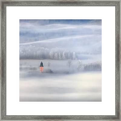 Bathed In Fog Framed Print
