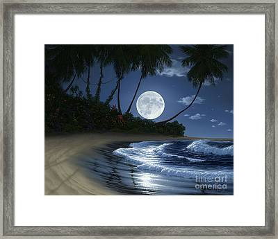 Bathed In Moonlight Framed Print