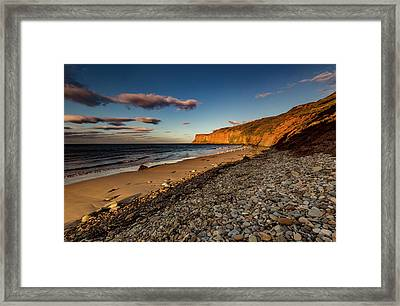 Bathed In The Evening Light Framed Print by Keith Sayer