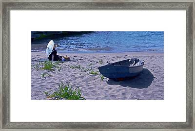 Bather By The Bay Framed Print