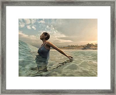 Bather Framed Print by Cynthia Decker